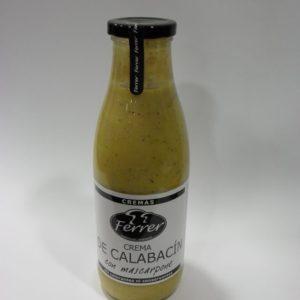 Crema de calabacin con Mascarpone Ferrer