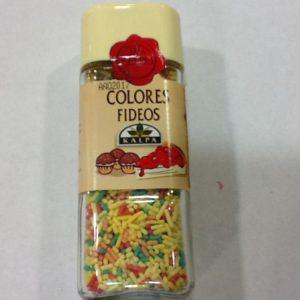 Fideos colores