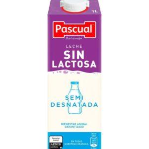Pack de leche semidesnatada Pascual sin lactosa