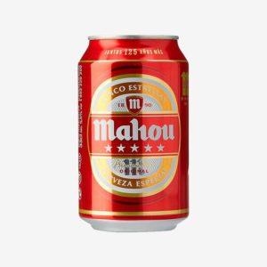 Pack de cerveza Mahou roja de 24 latas