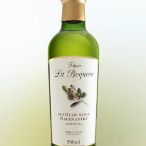 Aceite de Oliva Virgen Extra Arbequina (Botella cristal de 1/2L)