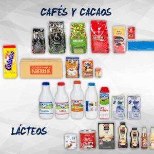 Lácteos, Cafés y Cacaos
